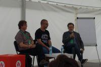 Sztuka pisania biografii. Od lewej: Mariusz Urbanek, Szymon Kloska, Michał Rusinek