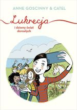"""Okładka książki pt. """"Lukrecja i dziwny świat dorosłych"""""""