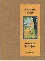 Okładka książki: Wiersze kolejne
