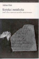 Okładka książki: Krytyka i metafizyka