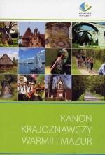 Okładka książki: Kanon krajoznawczy Warmii i Mazur