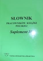 Okładka książki: Słownik pracowników książki polskiej. Suplement 3