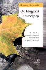 Okładka książki: Od biografii do recepcji