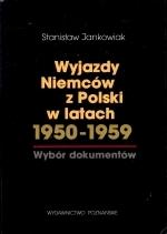 Okładka książki: Wyjazdy Niemców z Polski w latach 1950-1959