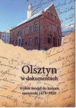 Okładka książki: Olsztyn w dokumentach. 2, wybór źródeł do historii rzemiosła 1474-1950