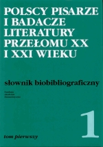 Okładka książki: Polscy pisarze i badacze literatury przełomu XX i XXI wieku
