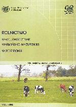 Okładka książki: Rolnictwo w województwie warmińsko-mazurskim w 2007 roku