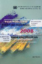 Okładka książki: Województwo warmińsko-mazurskie 2008