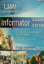 Okładka książki: Informator dla kandydatów na studia stacjonarne i niestacjonarne 2009/2010