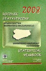 Okładka książki: Rocznik statystyczny województwa warmińsko-mazurskiego 2008
