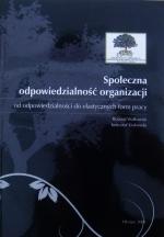 Okładka książki: Społeczna odpowiedzialność organizacji
