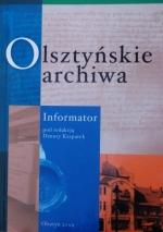 Okładka książki: Olsztyńskie archiwa