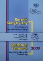 Okładka książki: Rocznik statystyczny województwa warmińsko-mazurskiego 2009