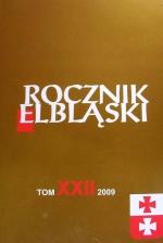 Okładka książki: Rocznik Elbląski. Tom XXII