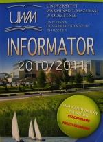 Okładka książki: Informator dla kandydatów na studia stacjonarne i niestacjonarne 2010/2011