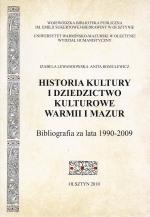 Okładka książki: Historia kultury i dziedzictwo kulturowe Warmii i Mazur