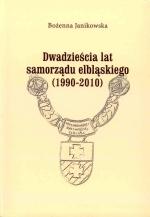 Okładka książki: Dwadzieścia lat samorządu elbląskiego (1990-2010)