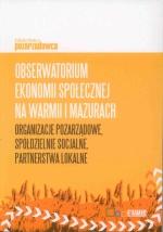 Okładka książki: Obserwatorium ekonomii społecznej na Warmii i Mazurach