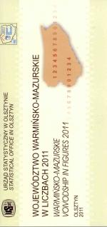 Okładka książki: Województwo warmińsko-mazurskie w liczbach 2011