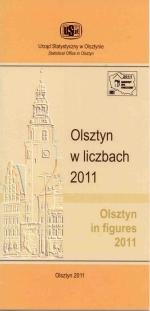Okładka książki: Olsztyn w liczbach 2011