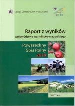 Okładka książki: Raport z wyników województwa warmińsko-mazurskiego - Powszechny Spis Rolny 2010