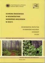 Okładka książki: Ochrona środowiska w województwie warmińsko-mazurskim w 2010 r.