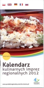 Okładka książki: Kalendarz kulinarnych imprez regionalnych 2012