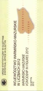 Okładka książki: Województwo warmińsko-mazurskie w liczbach 2012