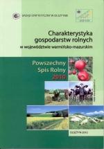 Okładka książki: Charakterystyka gospodarstw rolnych w województwie warmińsko-mazurskim