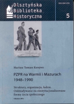 Okładka książki: PZPR na Warmii i Mazurach 1948-1990
