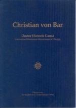 Okładka książki: Christian von Bar Doctor Honoris Causa Universitas Warmiensis-Masuriensis in Olsztyn