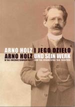 Okładka książki: Arno Holz i jego dzieło
