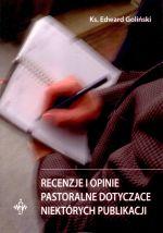 Okładka książki: Recenzje i opinie pastoralne dotyczące niektórych publikacji