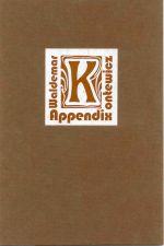 Okładka książki: Appendix