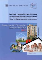 Okładka książki: Ludność i gospodarstwa domowe w województwie warmińsko-mazurskim