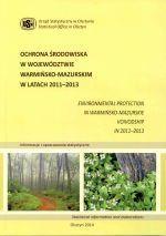 Okładka książki: Ochrona środowiska w województwie warmińsko-mazurskim w latach 2011-2013