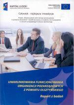 Okładka książki: Uwarunkowania funkcjonowania organizacji pozarządowych z powiatu olsztyńskiego