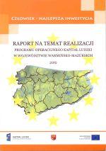 Okładka książki: Raport na temat realizacji programu operacyjnego kapitał ludzki w województwie warmińsko-mazurskim