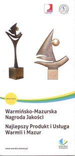 Okładka książki: Warmińsko-Mazurska Nagroda Jakości. Najlepszy Produkt i Usługa Warmii i Mazur. - Wyd. 5. - [Warszawa]