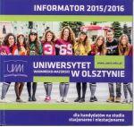 Okładka książki: Informator 2015/2016 dla kandydatów na studia stacjonarne i niestacjonarne
