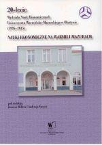 Okładka książki: Nauki ekonomiczne na Warmii i Mazurach