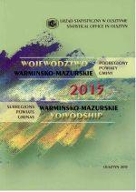 Okładka książki: Województwo Warmińsko-Mazurskie 2015