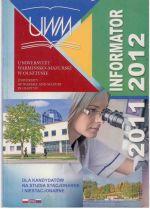 Okładka książki: Informator dla kandydatów na studia stacjonarne i niestacjonarne 2011/2012