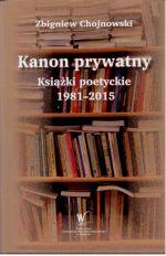 Okładka książki: Kanon prywatny