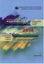 Okładka książki: Województwo Warmińsko-Mazurskie 2016