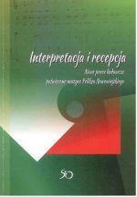 Okładka książki: Interpretacja i recepcja