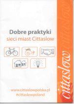 Okładka książki: Dobre praktyki sieci miast Cittaslow. - Olsztyn