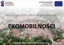 Okładka książki: Rozwój transportu zbiorowego w Olsztynie - łańcuchy ekomobilności. - [Olsztyn