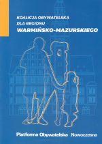 Okładka książki: Koalicja Obywatelska dla regionu warmińsko-mazurskiego