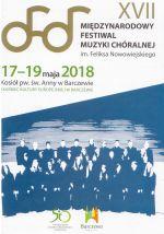 Okładka książki: [Siedemnasty] XVII Międzynarodowy Festiwal Muzyki Chóralnej im. Feliksa Nowowiejskiego